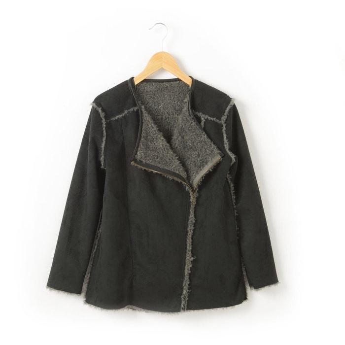 Image Manteau aspect peau lainée réversible R teens