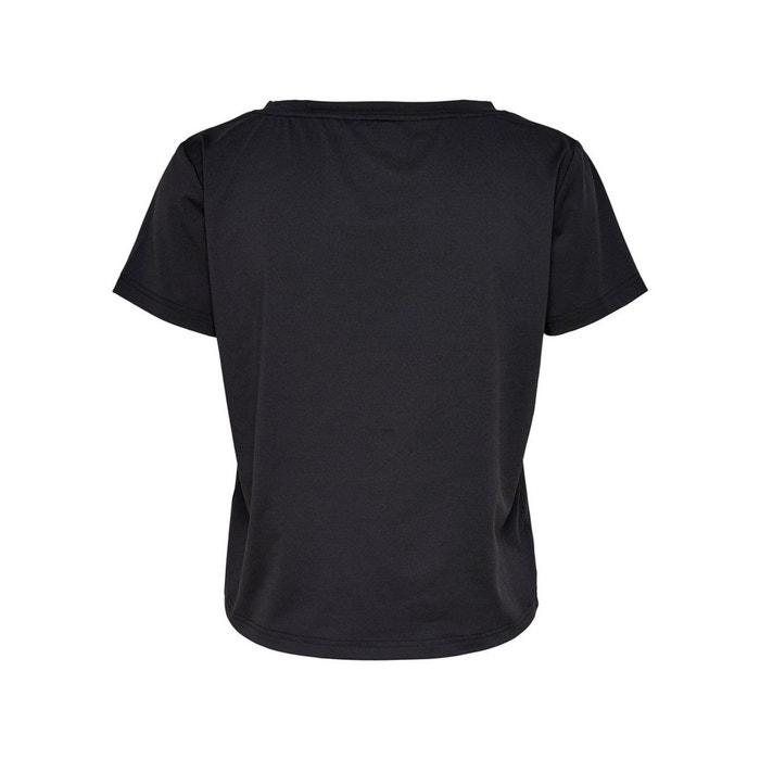 ONLY con corta Camiseta PLAY y manga estampado delante de redondo cuello PSPqxTpr
