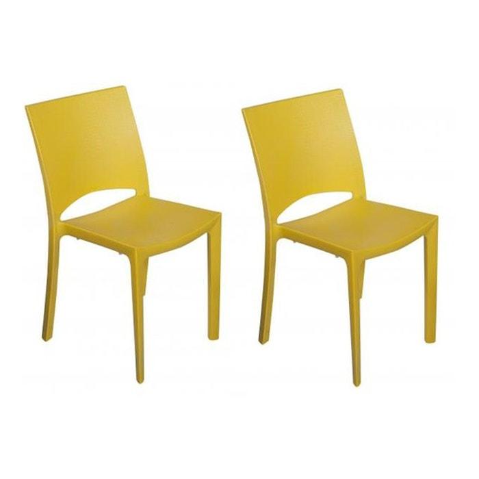lot de 2 chaises jaunes effet croco arlequin jaune declikdeco la redoute. Black Bedroom Furniture Sets. Home Design Ideas