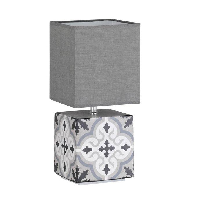 Lampe De Salon Design Oriental Grise En Céramique Gris Keria | La Redoute