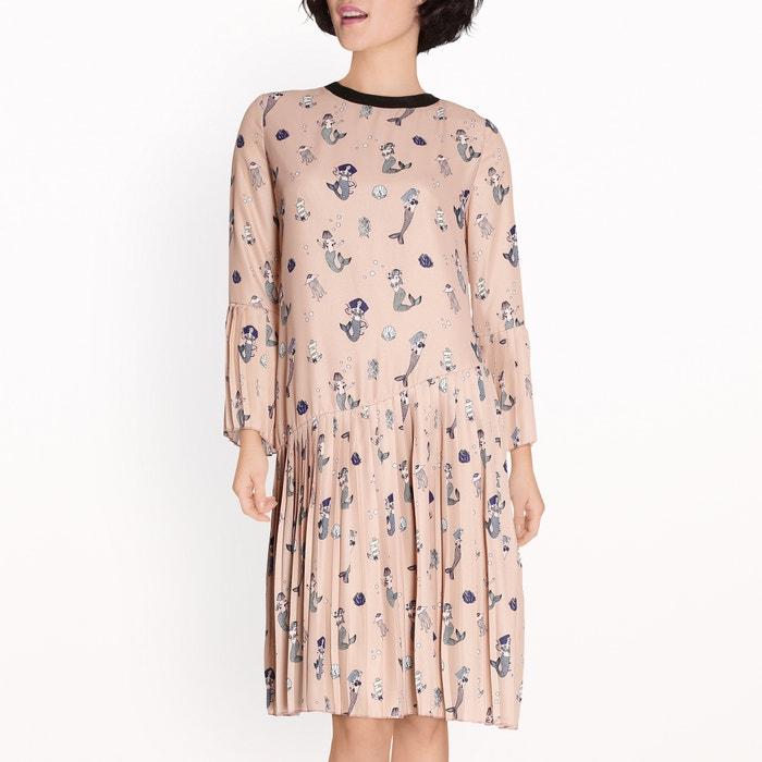 afbeelding Bedrukte jurk met plooitjes SISTER JANE