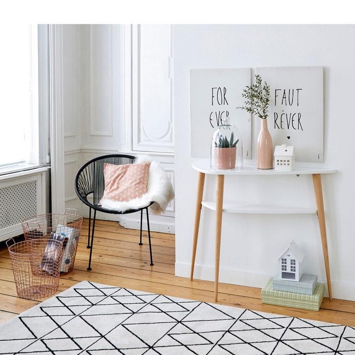 tapis fedro la redoute interieurs la redoute - Tapis Noir Et Blanc