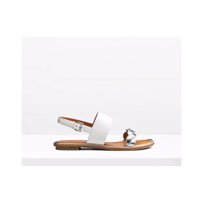 Sandales en cuir - kimie  argente What For  La Redoute