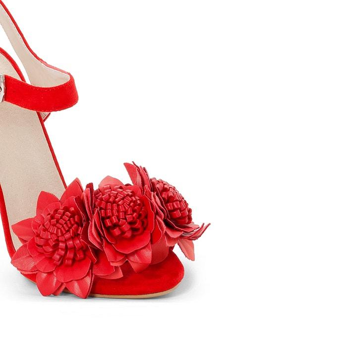 MADEMOISELLE correa rojas Sandalias y R con flores vUvw6