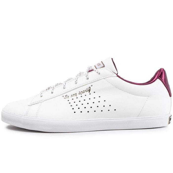 Basket basse blanc/bordeaux Le Coq Sportif