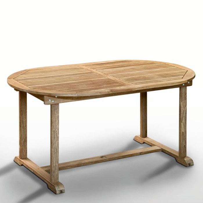 Image Table teck, 6 à 10 places, 1 allonge repliable La Redoute Interieurs
