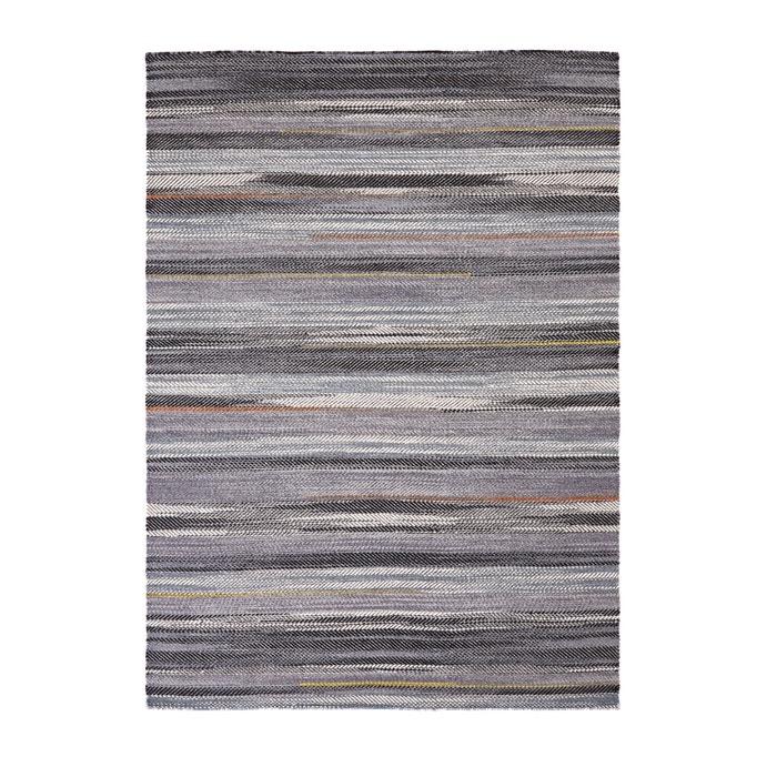 gewebter teppich mit kelim muster aconita grau bunt am pm la redoute. Black Bedroom Furniture Sets. Home Design Ideas