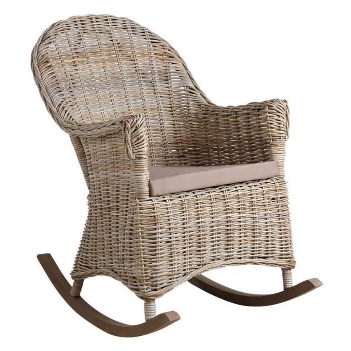 rocking chair en poelet gris naturel aubry gaspard la redoute. Black Bedroom Furniture Sets. Home Design Ideas