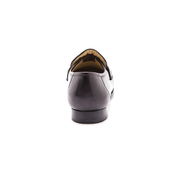 Mocassins cuir à aérosemelle®, grande largeur Pediconfort