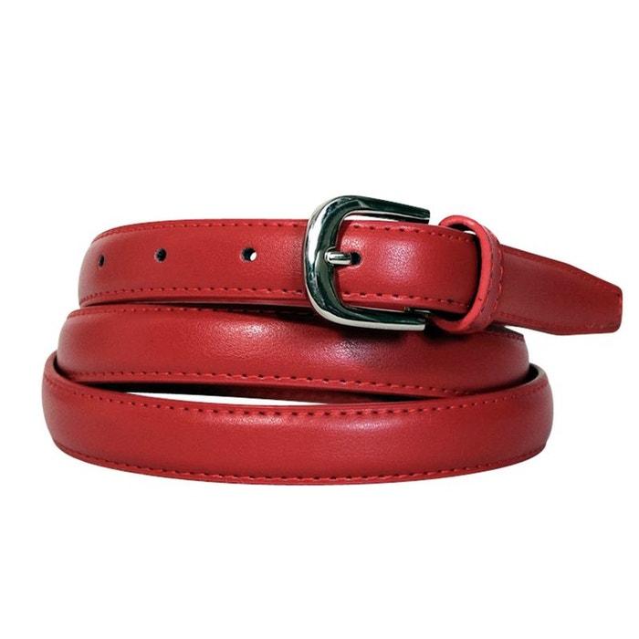 Ceinture fine cuir rouge Chapeau-Tendance   La Redoute 2beb3c0e04b