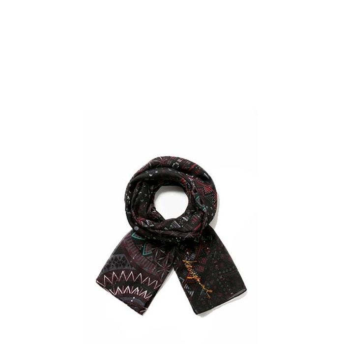 6178ae2488cbd Foulard noa 195 cm negro 2000 negro Desigual   La Redoute