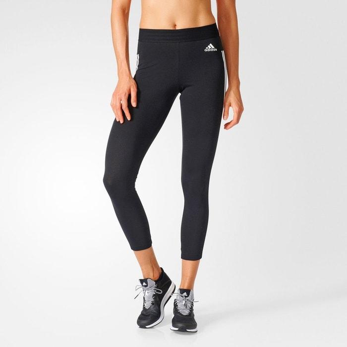 legging sport 3 bandes noir blanc adidas performance la. Black Bedroom Furniture Sets. Home Design Ideas