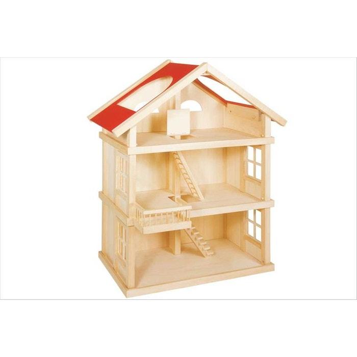 Maison de poupée 3 niveaux TOYS PURE