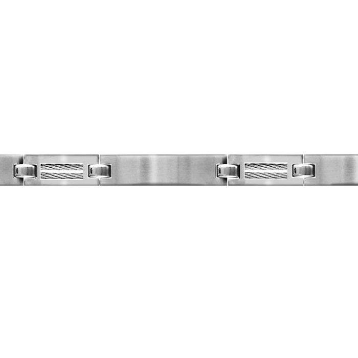 Bracelet longueur réglable: 18,5 à 20 cm plaques lisses câble acier inoxydable couleur unique So Chic Bijoux   La Redoute