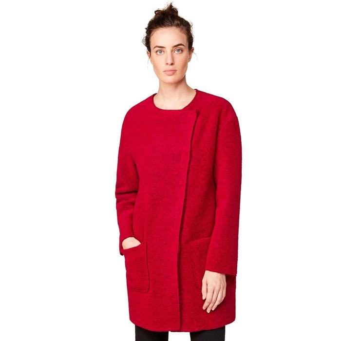 manteau droit laine bouillie benetton la redoute. Black Bedroom Furniture Sets. Home Design Ideas