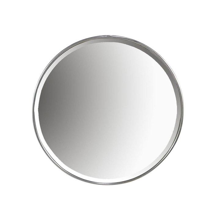 Miroir rond m tal 80cm argent emde premium la redoute for Miroir emde deco