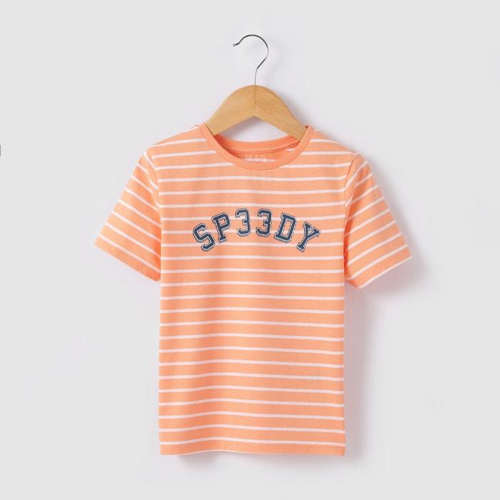 T-shirt às riscas, 3-12 anos abcd'R