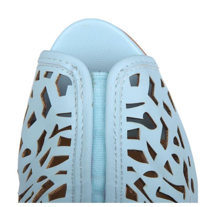 Escarpins cara bleu clair Janiko