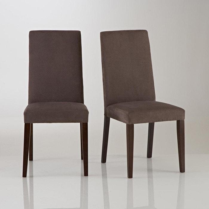 chaise microfibre lot de 2 hartford taupe fonc la. Black Bedroom Furniture Sets. Home Design Ideas