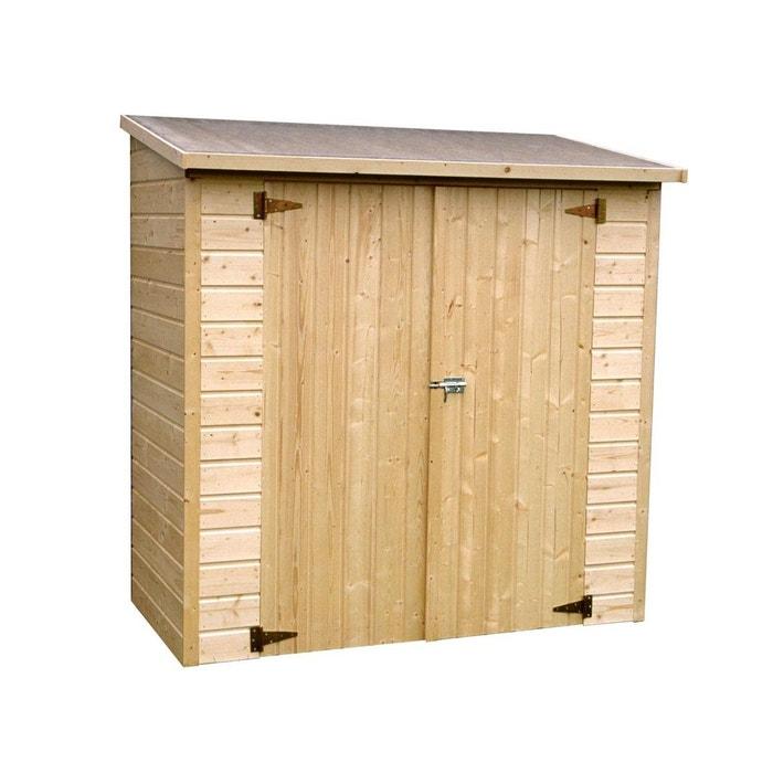 Armoire de jardin en bois 12 mm 1 40 m couleur unique decor et jardin la redoute for Abri de jardin en bois la redoute