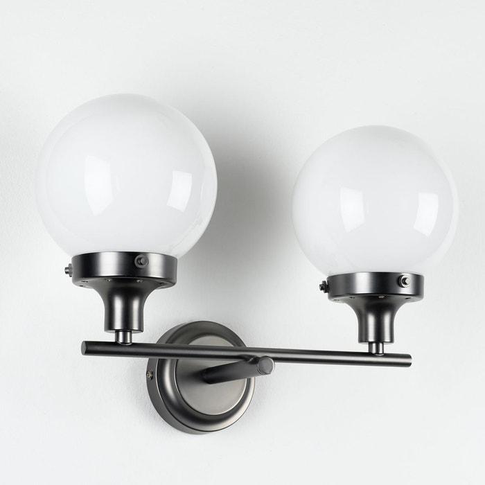 applique murale 2 globes cocinero opaline blanche am pm la redoute. Black Bedroom Furniture Sets. Home Design Ideas