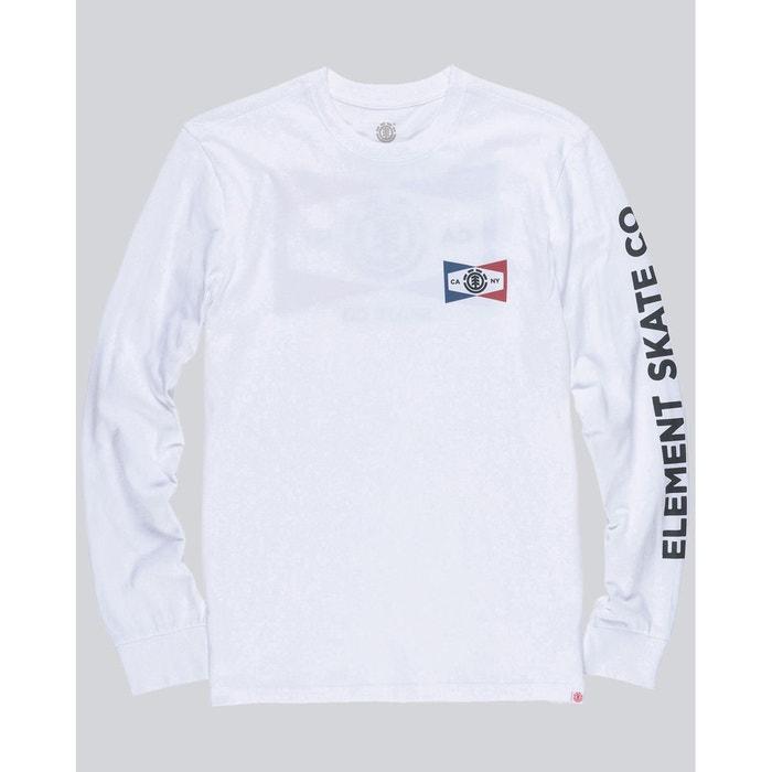 Tee-shirt segment ls optic white Element