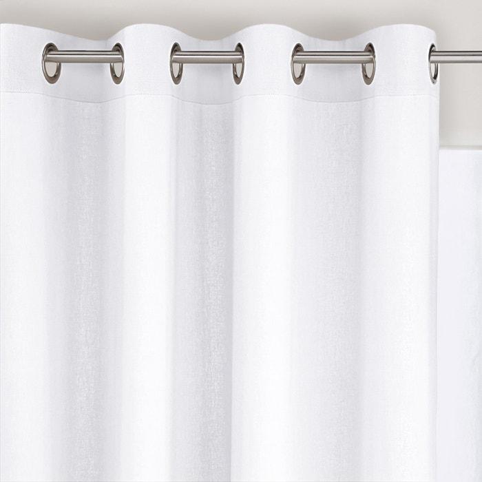 afbeelding Gordijn in linnen/viscose met oogjes, ODORIE La Redoute Interieurs