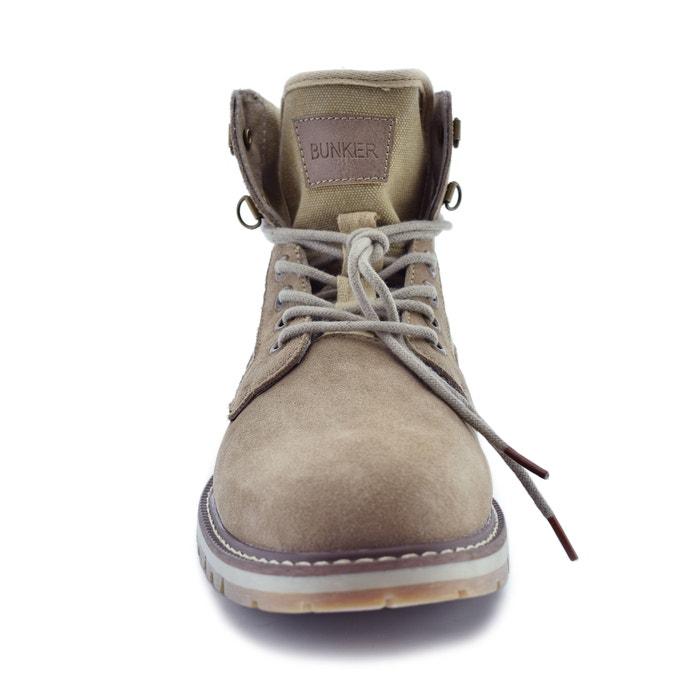 Boots cuir vachette croûte de La Redoute Bunker ROqHap