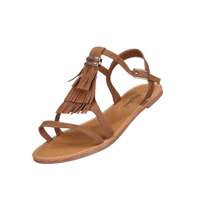 Sandale femme Lily shoes L322 Camel LEADER MODE