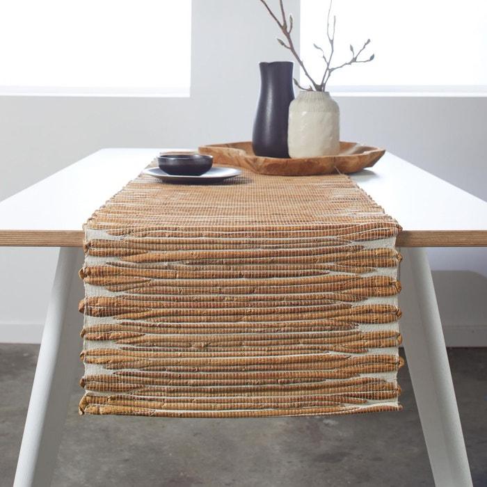 Chemin de table jacynthe d 39 eau malaka blanc et naturel blanc et naturel madura la redoute - Chemin de table lavande ...