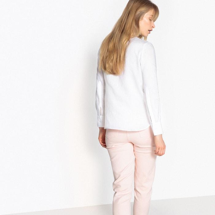 Collections con Blusa cuello e plisado 243;n y La plastr Redoute lino mao qX51Zw
