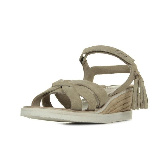 Palladium Plumea Sud Mouton beige - Chaussures Sandale Femme
