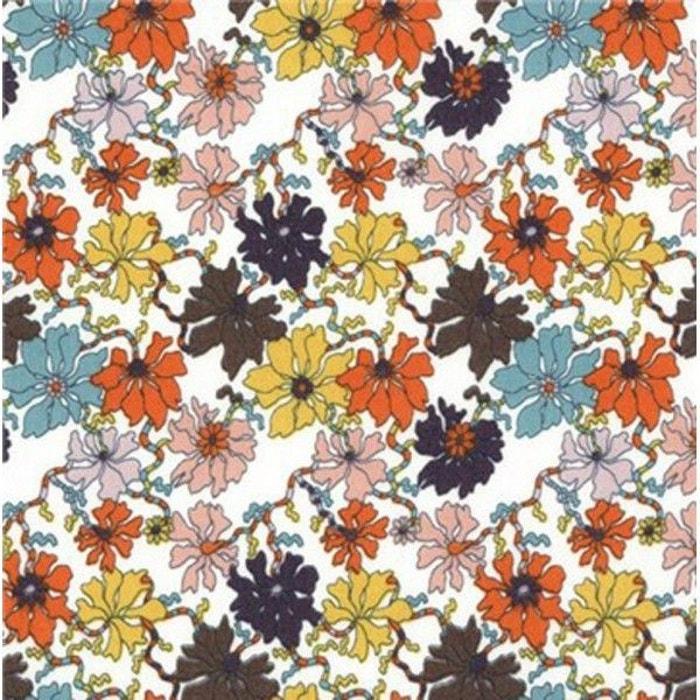 tissu liberty sea petals col tangerine miel indigo. Black Bedroom Furniture Sets. Home Design Ideas