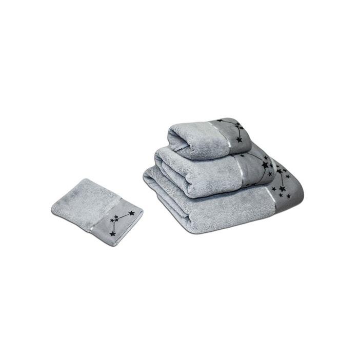 parure de bain collection prestige 800gr par m2 brod gris. Black Bedroom Furniture Sets. Home Design Ideas