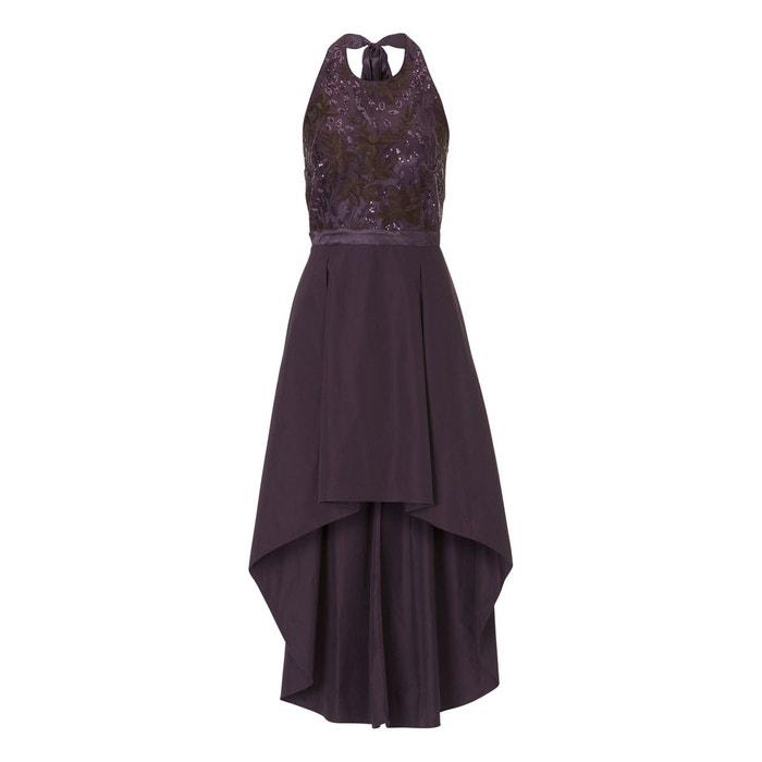 b30d5472d61 Robe de soirée à broderies violet clair - prune Vera Mont