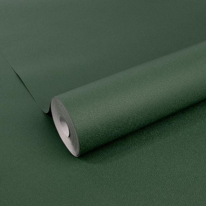 Papier Peint Intisse Uni Elegant Floral Vert 10m X 52cm