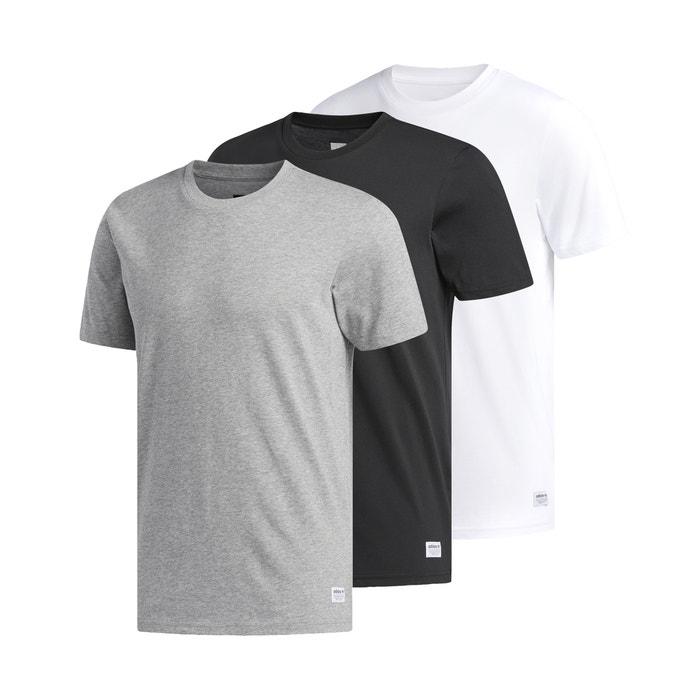 ea6b4360 Pack of 3 cw2344 crew neck t-shirts , grey + black + white, Adidas  Originals | La Redoute