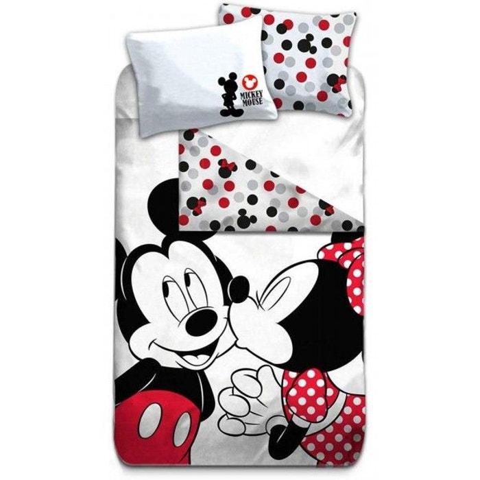 Mickey Et Minnie Kiss Parure De Lit Enfant Housse De Couette