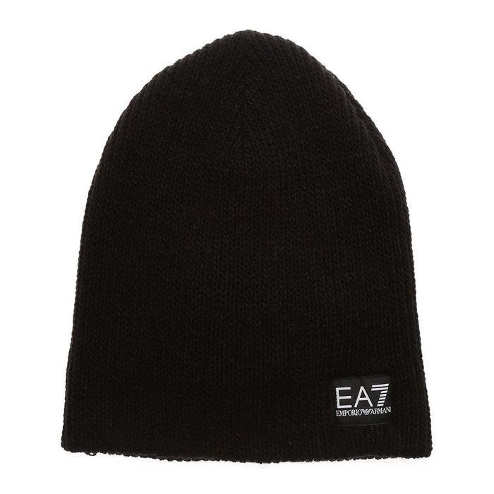 ec493af6ad4 Bonnet acrylique noir Emporio Armani Ea7