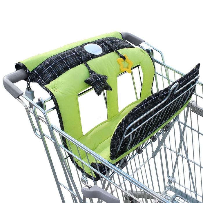 952c8a2f586 Protège chariot siège pour bébé enfant + jouets vert et noir Monsieur Bebe