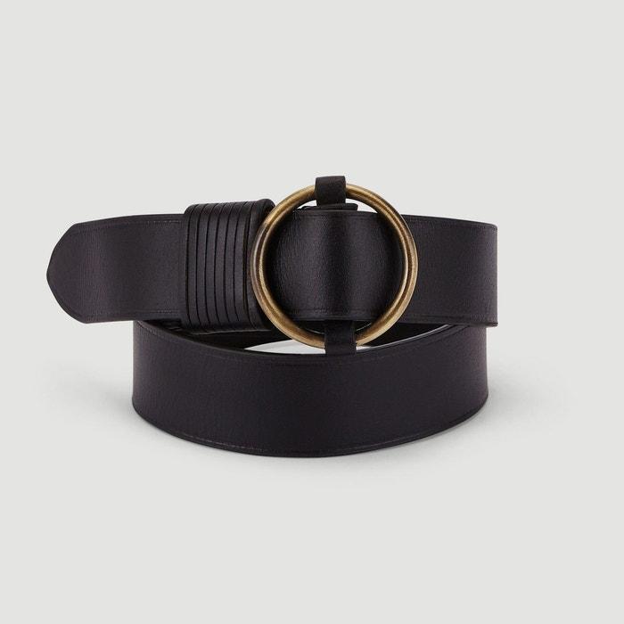 Ceinture en cuir large noir Monoprix   La Redoute 33986fc44d0