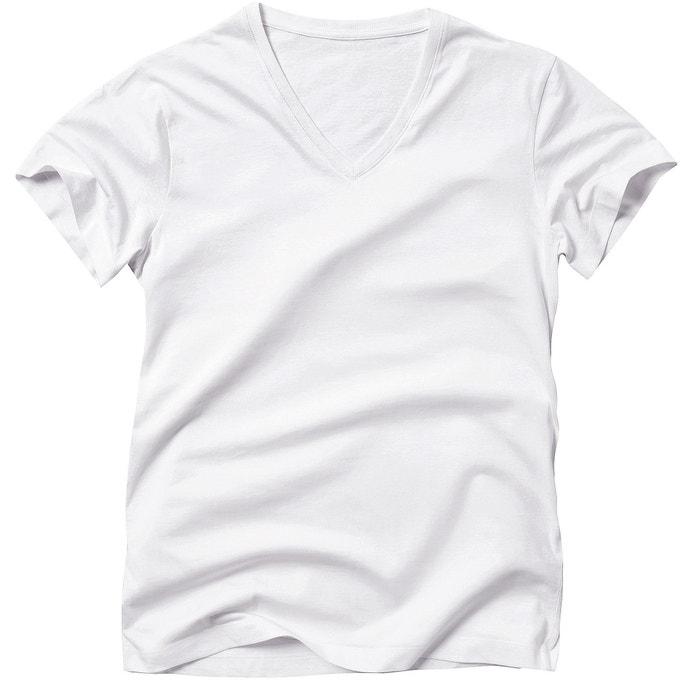 Image Plain Short-Sleeved V-Neck T-Shirt R édition