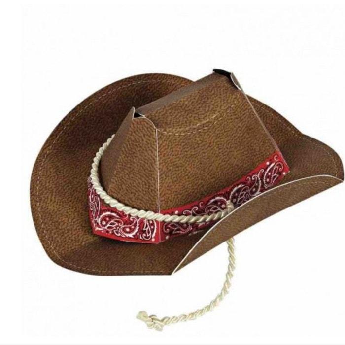 8 chapeaux de cowboy marron rock my partie la redoute. Black Bedroom Furniture Sets. Home Design Ideas