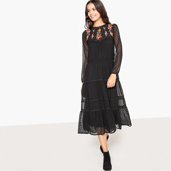 Платье в богемном стиле с цветочной вышивкой и оригинальной спиной  La Redoute Collections image 0