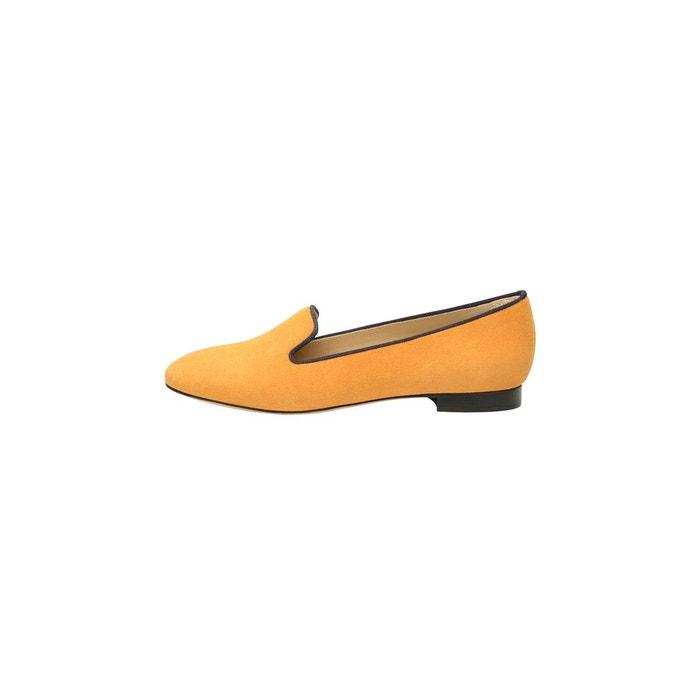 Loafer en velours orange orange Shoepassion