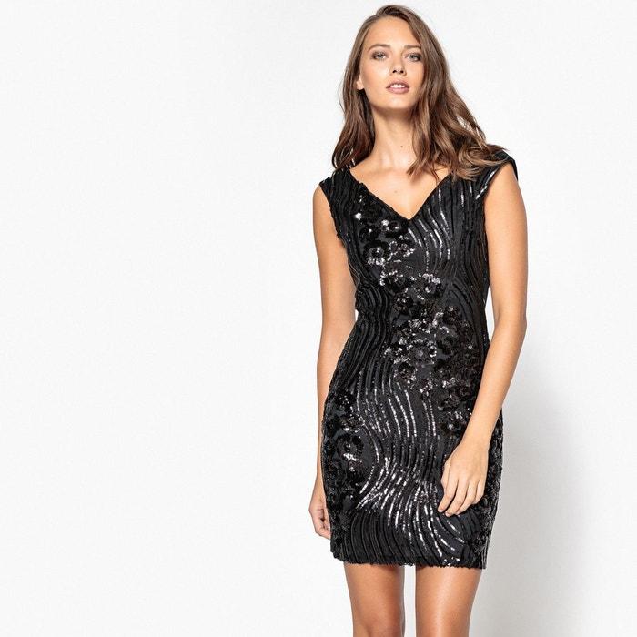 robe moulante uni courte sans manches noir molly bracken la redoute. Black Bedroom Furniture Sets. Home Design Ideas