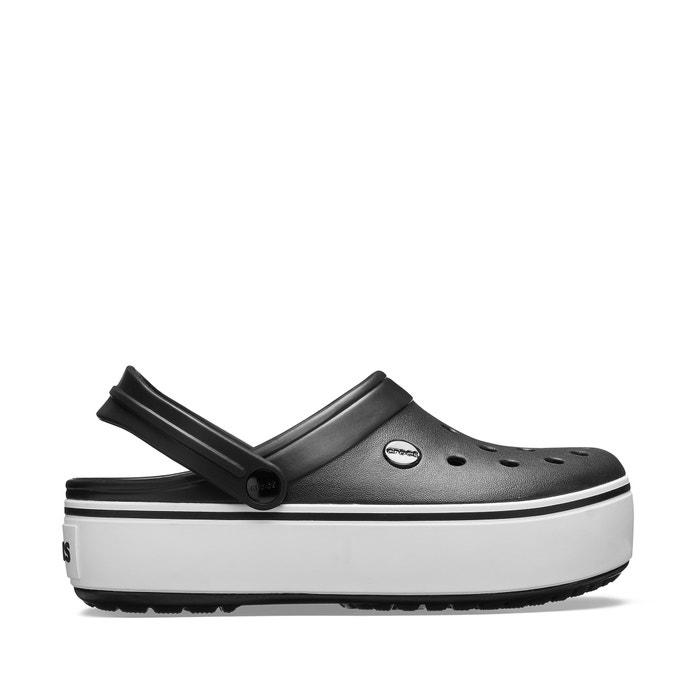 Вьетнамки crocband platform clog black white черный  белый Crocs ... ff89859749f12