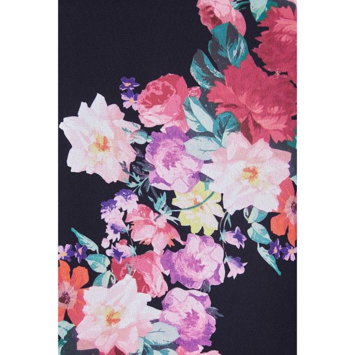 3 flores de midi con largo recto Vestido 4 y estampado YUMI zfqxF17An