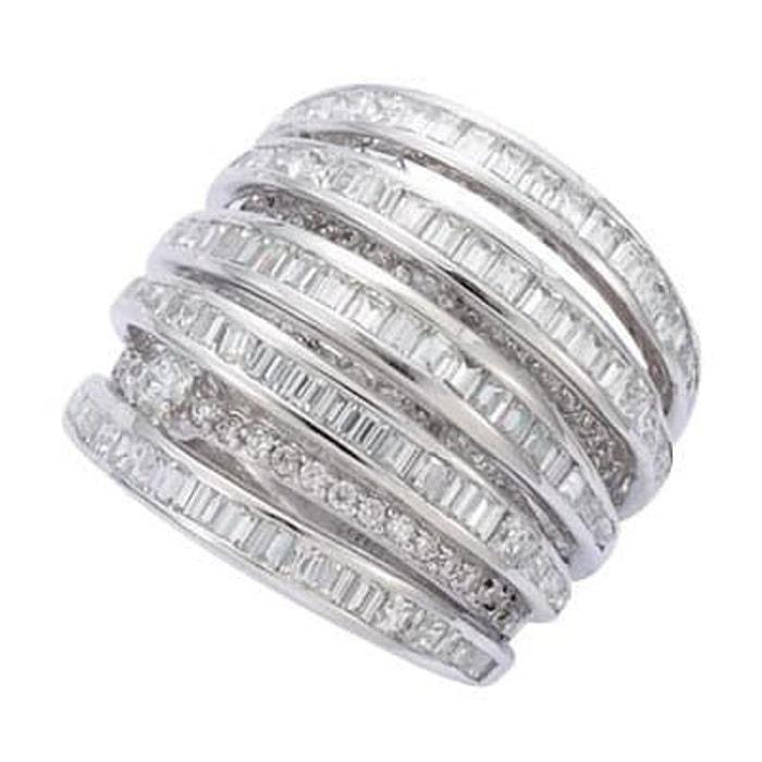 À Vendre Acheter Des Photos À Bas Prix Bague anneau luxe oxyde de zirconium argent 925 couleur unique So Chic Bijoux | La Redoute yv68Ui