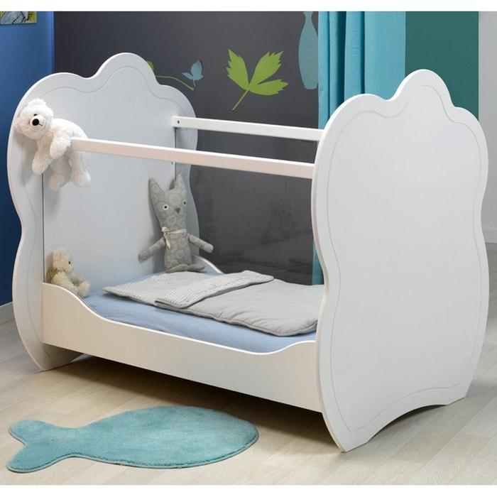 lit b b plexi blanc 60x120 blanc alfred et compagnie la redoute. Black Bedroom Furniture Sets. Home Design Ideas